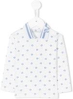 Versace long sleeve printed polo shirt