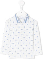 Young Versace long sleeve printed polo shirt