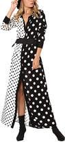 Black & White Dot Shirt Dress - Women