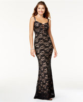 Jump Juniors' Shine Lace Column Gown