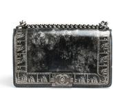 Chanel Metallic Lambskin and Ruthenium Metal Medium Boy Bag