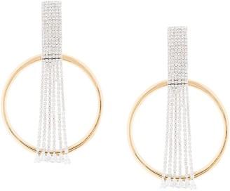 Venna Hoop Fringe Crystal Earrings
