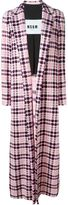 MSGM checked long coat - women - Cotton - 46