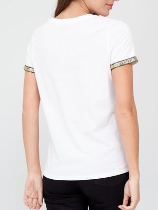 Very Lamour Foil Print T-shirt - White