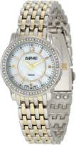August Steiner Women's ASA827TTG Dazzling Diamond Bracelet Watch