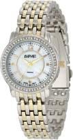 August Steiner Women's ASA827TTG Dazzling Diamond Bracelet Watch
