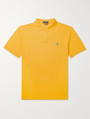 Polo Ralph Lauren Slim-Fit Logo-Embroidered Cotton-Pique Polo Shirt
