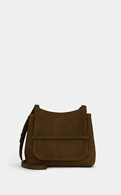 The Row Women's Sideby Suede Shoulder Bag - Brown