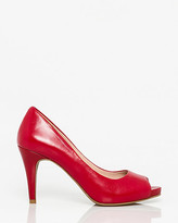Le Château Leather Peep Toe Platform Pump