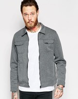 Lee Jacket Rider Bonded Jersey Zipthru in Gray Melange