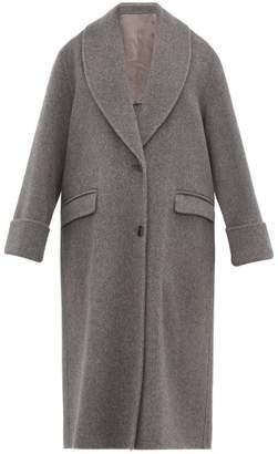 Joseph Kara Double Faced Wool Blend Coat - Womens - Dark Grey