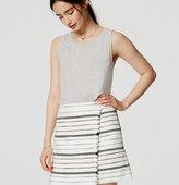LOFT Striped Fringe Wrap Skirt