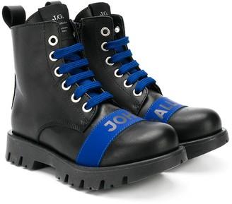 John Galliano Lace-Up Boots