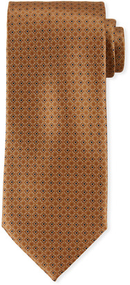 Brioni Printed Diamond Silk Tie