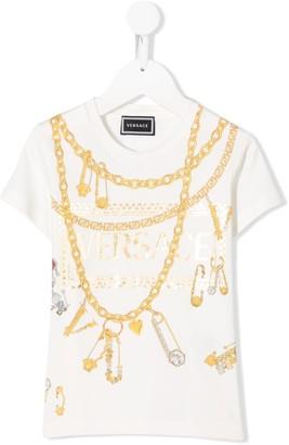 Versace chain print T-shirt