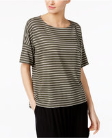 Eileen Fisher Organic Cotton-Blend Striped Boxy Top, Regular and Petite