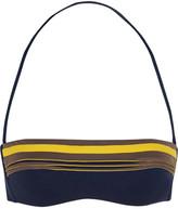 La Perla Corniche Appliquéd Bandeau Bikini Top - Indigo