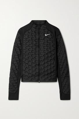 Nike Aeroloft Stretch Jersey-trimmed Shell Down Jacket - Black