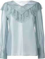 Philosophy Di Lorenzo Serafini - lace panel blouse - women - Silk/Polyamide - 40