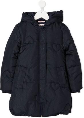 Billieblush Heart-Print Padded Jacket