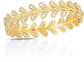 Roberto Coin Byzantine Barocco Diamond Leaf Ring