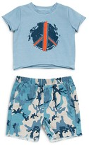Amy Coe Infant Boys' Peace Tee & Camo Print Shorts - Sizes 0-9 Months