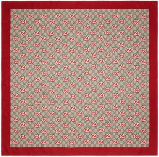 Gucci Chinese Valentine's Day silk scarf