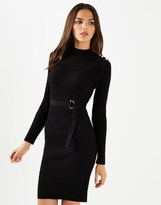 Lipsy Military Long Sleeve Button Dress