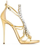 Giuseppe Zanotti Design 'Belle' sandals - women - Leather/glass - 38.5