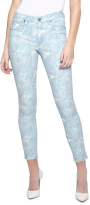Parker Smith Ava Leaf-Print Cropped Skinny Jeans