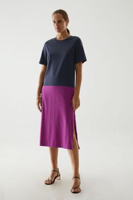 Cos Cotton Color Block Dress
