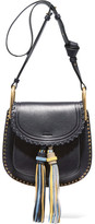 Chloé Hudson Small Studded Leather Shoulder Bag - Midnight blue