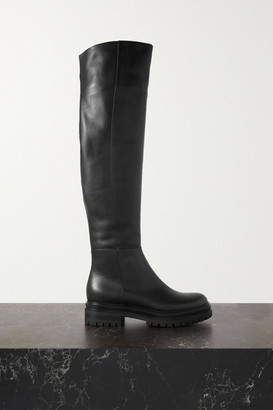 Gianvito Rossi 45 Leather Over-the-knee Boots - Black
