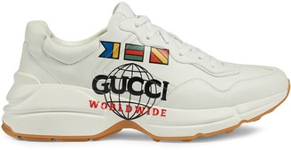 Gucci Rhyton graphic print low-top sneakers