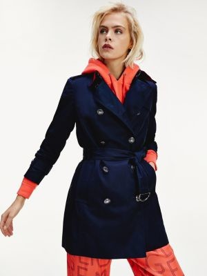 Tommy Hilfiger Double Breasted Utility Trench Coat