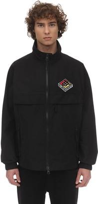 Burberry Zip-Up Techno Jacket W/ Logo Patch