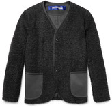 Junya Watanabe - Slim-fit Elbow-patch Faux Shearling Jacket