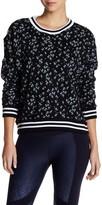 Betsey Johnson Printed Ribbed Sweatshirt