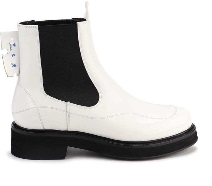 Off White Ankle Boots | Shop the world