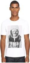 The Kooples Sport Hooded Skull Print T-Shirt Men's T Shirt