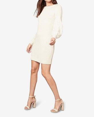 Express Bb Dakota Long Sleeve Mini Sweater Dress