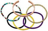 Unwritten Interchangeable Hair-Tie Cuff Bracelet in Rose Gold-Tone Stainless Steel