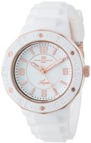 Oceanaut Women's OC0217 Acqua Stainless Steel Watch with White Rubber Band