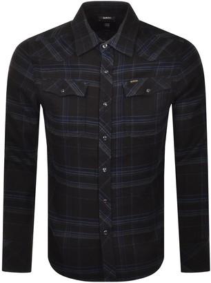 G Star Raw 3301 Flannel Long Sleeved Shirt Black