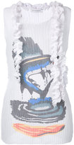 J.W.Anderson ruffled printed tank - women - Polyester/Viscose - 8