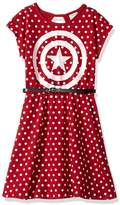 Freeze Captain American Polka Dot Dress (Little Girls)