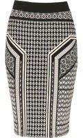 Dorothy Perkins Womens *Izabel London Black Printed A-Line Skirt- Black