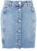Topshop MOTO Button Through Mini Skirt