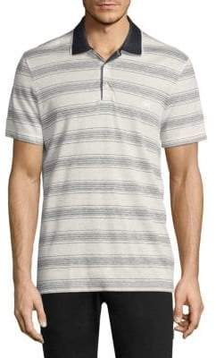 Salvatore Ferragamo Stripe Cotton Polo