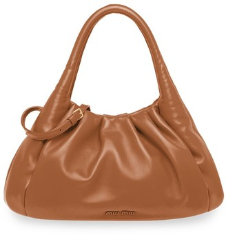 Miu Miu Gathered Detail Tote Bag